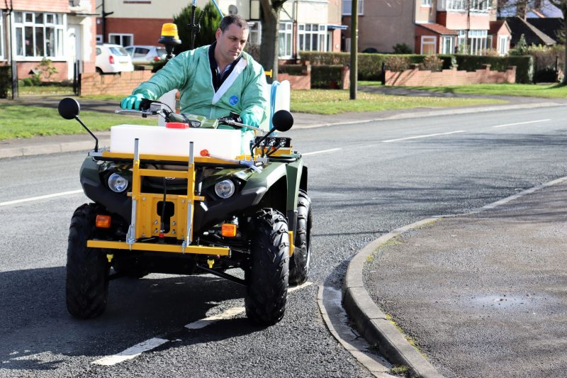 With VALE Engineering's PKL450 ATV quad bike mounted weed sprayer operators can control spray whilst in motion with both hands on the handlebars.