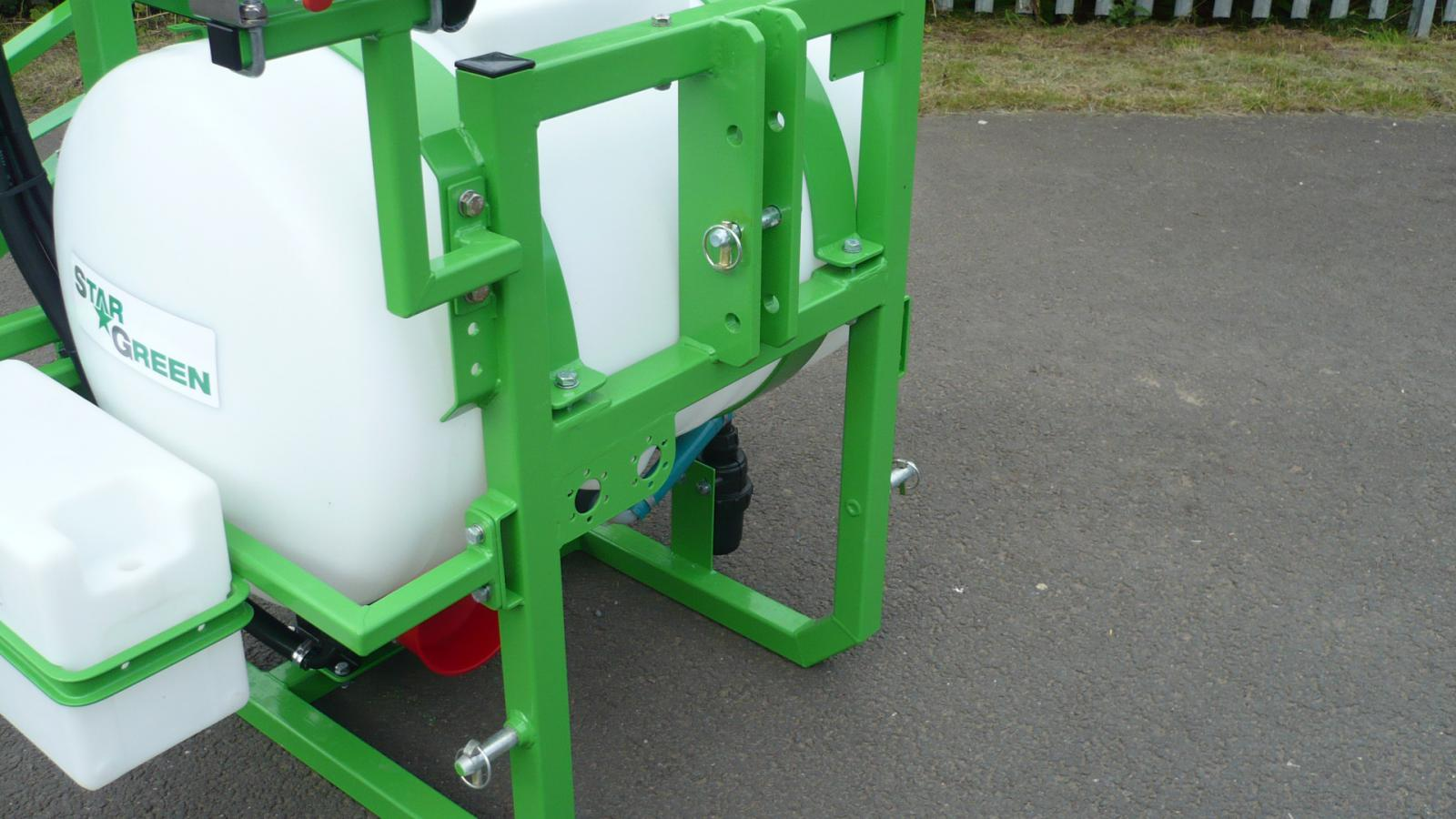 Three-point linkage to attach the STARGREEN 200 Litre Tractor Mounted Amenity Sprayer to a tractor unit
