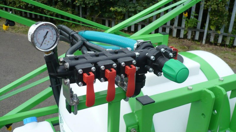 3 section manual control with balanced return on the STARGREEN 200 Litre Tractor Mounted Amenity Sprayer