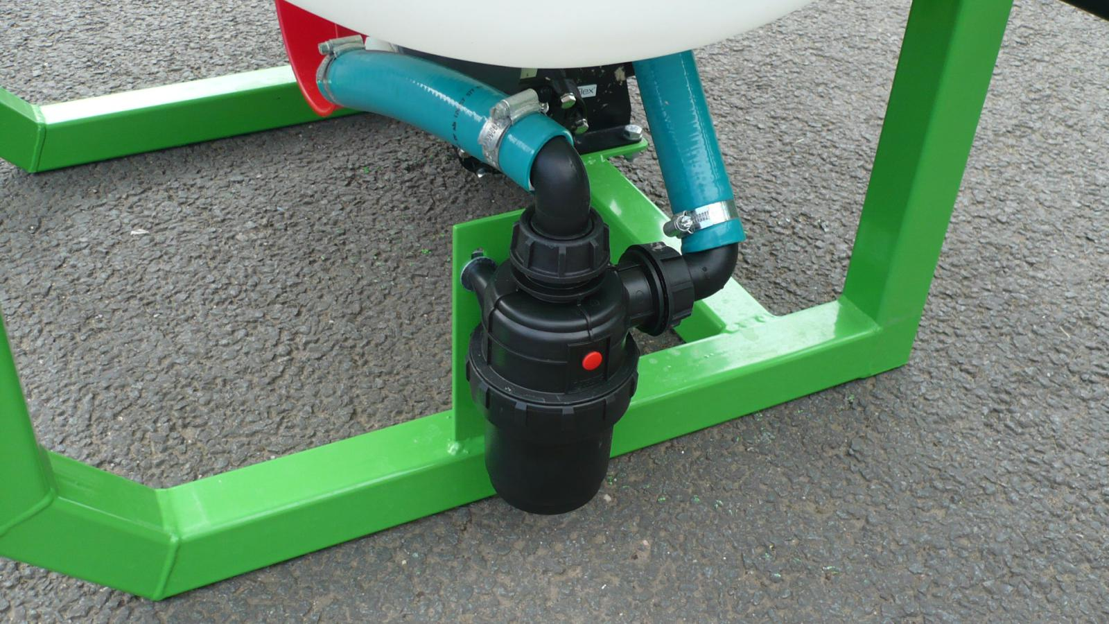 Large suction filter on the AS200 STARGREEN Tractor Mounted Amenity Sprayer