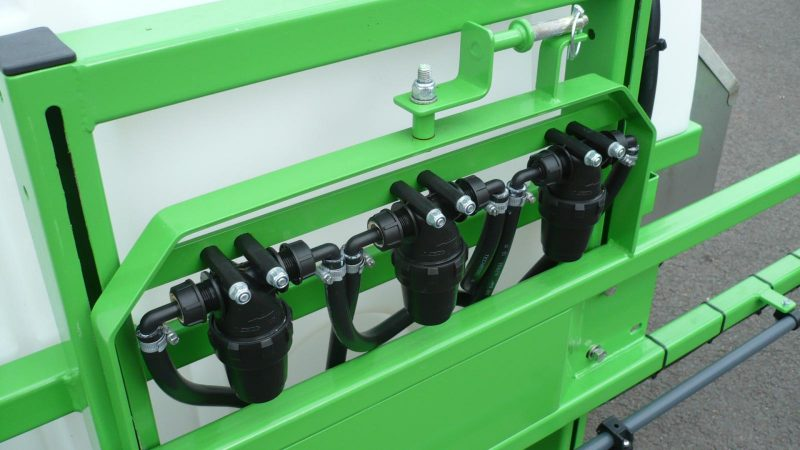 3 inline pressure filters feed the individual boom sections on both STARGREEN AS600Pro and AS800Pro Tractor Mounted Amenity Sprayers