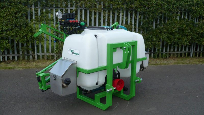 STARGREEN's AS600Pro and AS800Pro tractor-mounted amenity sprayers feature either a 600 or 800 litre polypropylene tank with tank lid and deep basket filter