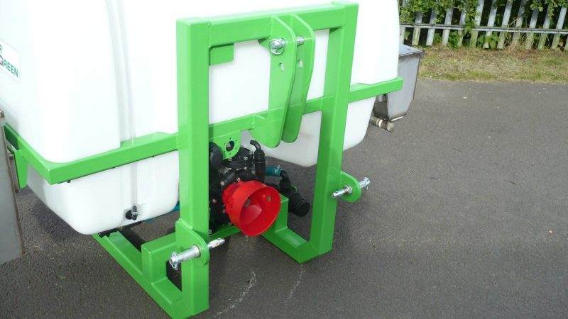 Three-point linkage to attach the STARGREEN AS600Pro or AS800Pro Tractor Mounted Amenity Sprayer to a tractor unit