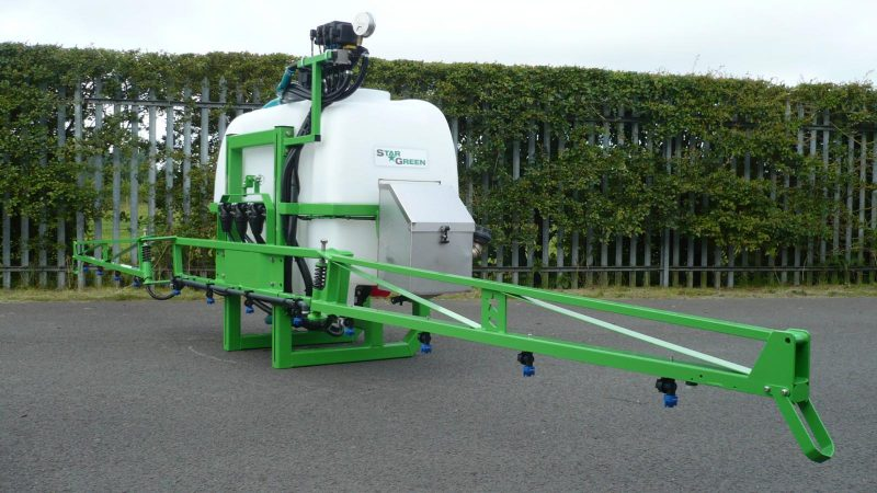 STARGREEN's AS600Pro and AS800Pro tractor-mounted amenity sprayers have 6 metre, high quality manual fold booms with a positive break back action and open position