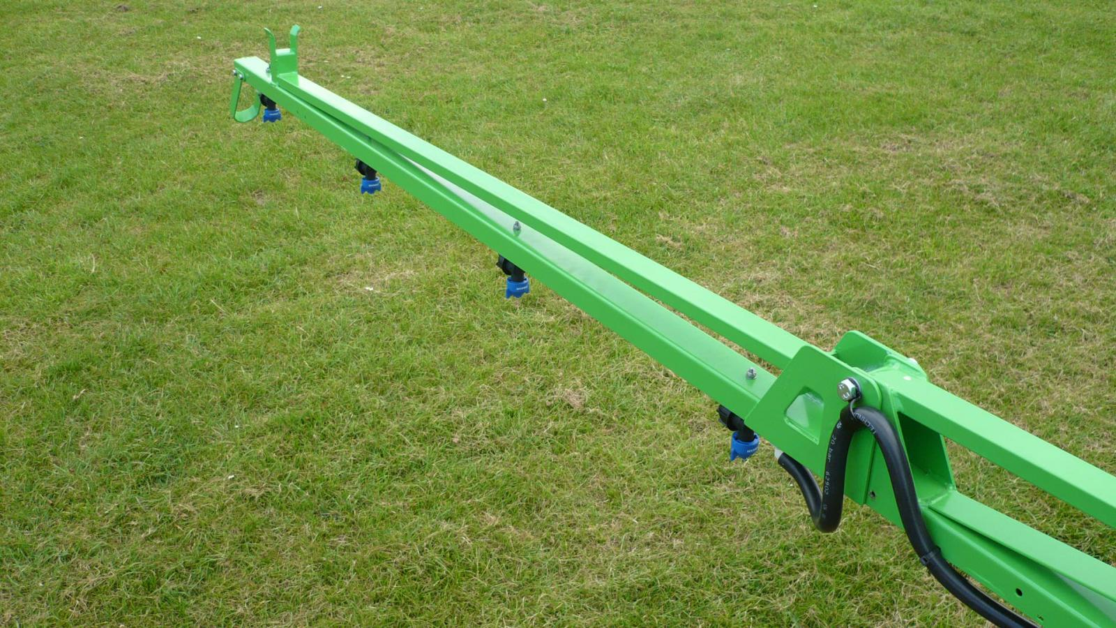 Optional boom extensions to take the spraying width to 10 metres for STARGREEN's AS600Pro and AS800Pro tractor-mounted amenity sprayers
