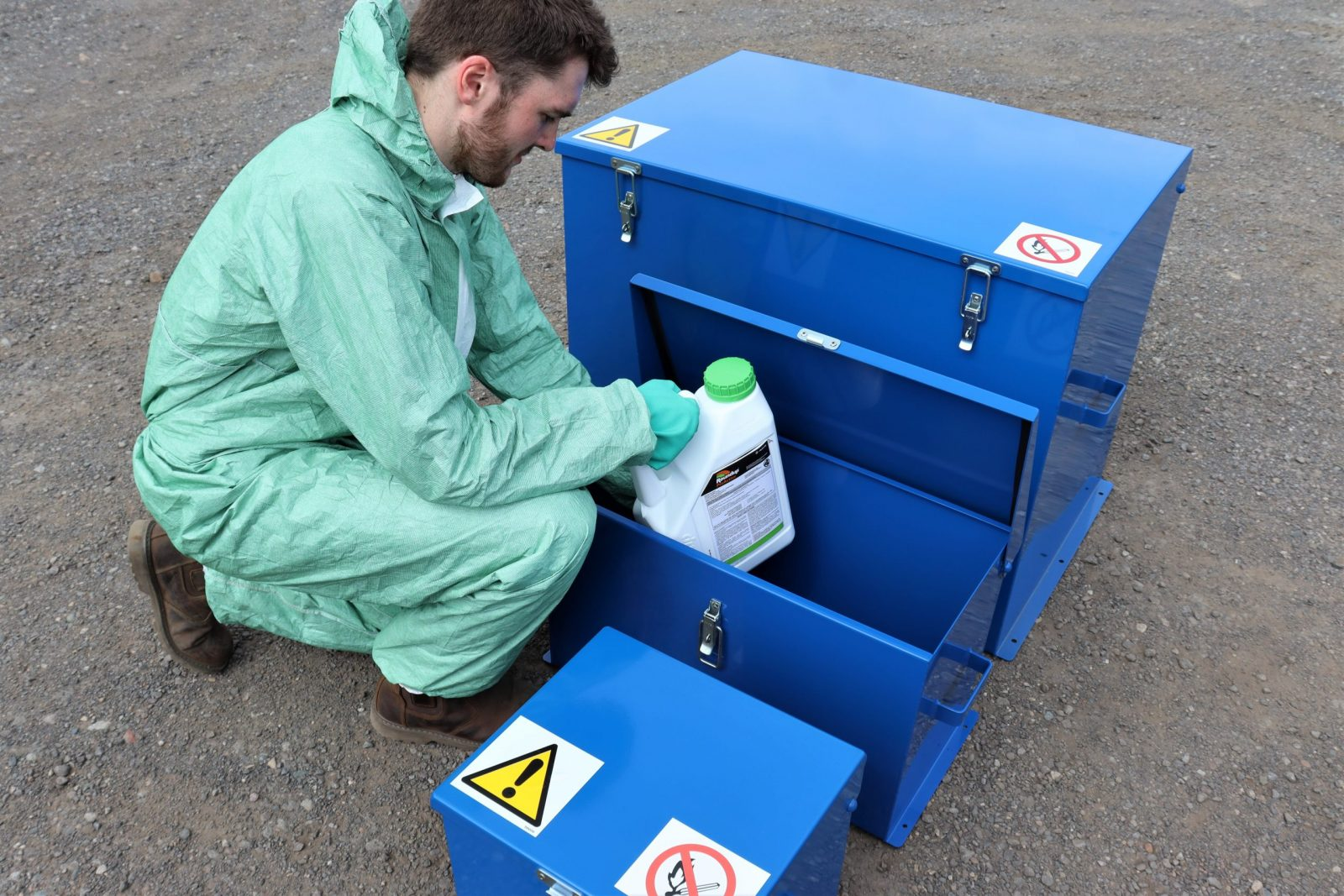 VALE Engineering's Chemical Storage Safes provide enhanced chemical and pesticide storage