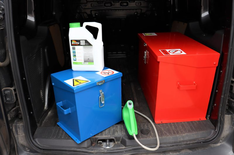 Small Chemical Storage Safe VCS015 can be used in a van
