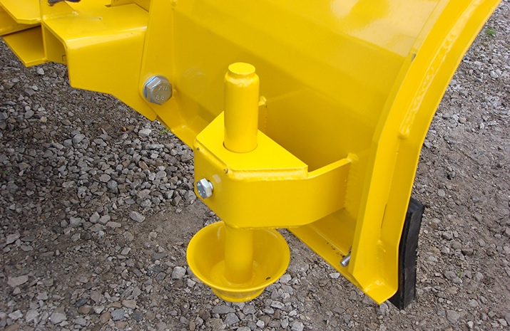 Snow Plough on Salt Spreader/Snowplough Mini-Tractor Combi has two height adjustable skids to maintain correct operational height