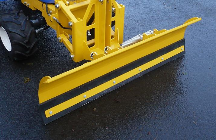 Snow Plough on Salt Spreader/Snowplough Mini-Tractor Combi has 1.3 metre blade width