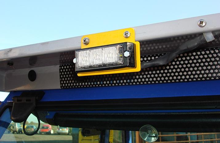 VALE Engineering's Salt Spreader/Snowplough Mini-Tractor Combi has full Road legal lighting