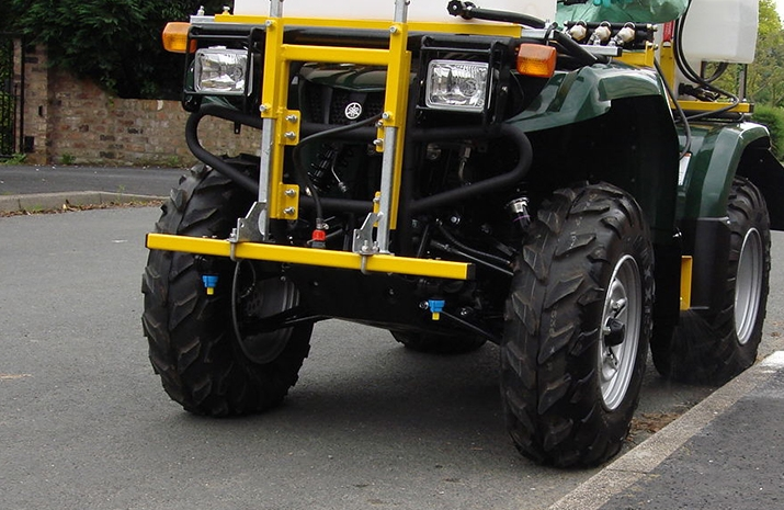 ATV quad bike mounted Weed Sprayer has Full Road lighting kit and is registered as an agricultural machine