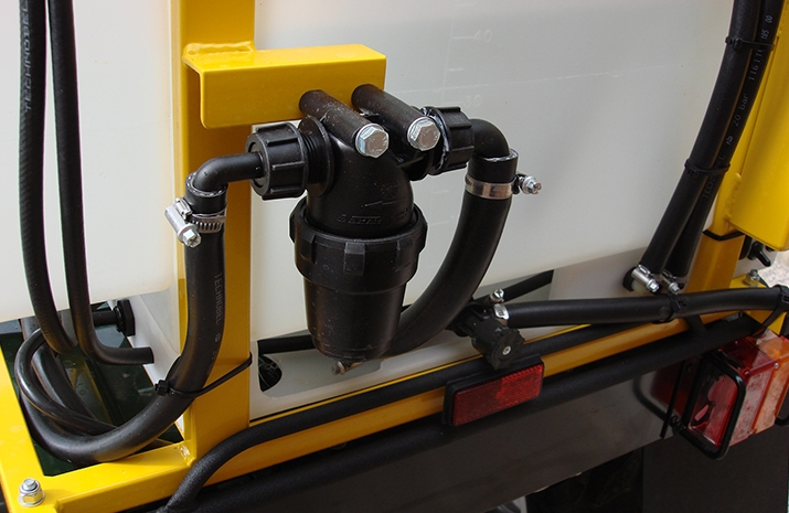 Full filtration system on VALE Engineering's ATV quad bike mounted Weed Sprayer