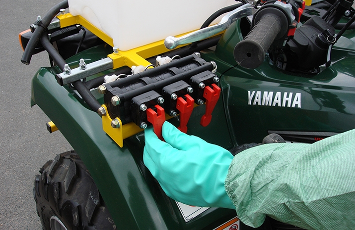 ATV quad bike mounted Weed Sprayer PKL350 has easy-to-use Front Mounted Control Valves