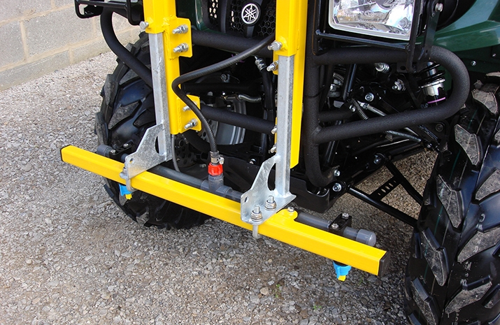 Two Nozzle Front Boom with individual nozzle isolation on the PKL weed spraying system from VALE Engineering