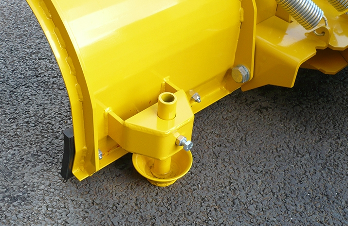Height adjustable skids on VALE Engineering's heavy-duty snow ploughs