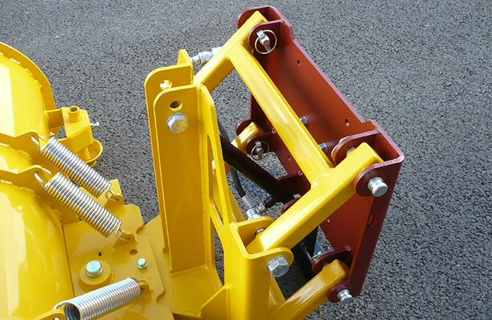 Snow plough is supplied with basic mounting bracket requiring end-user final fitment