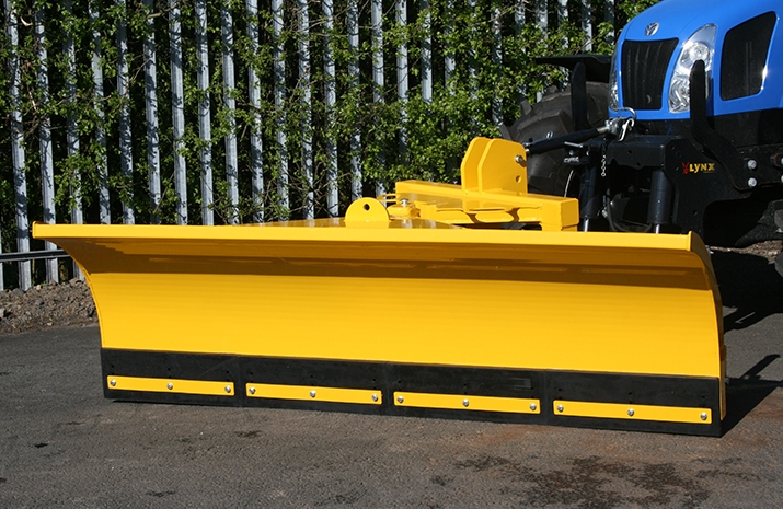 2.4m snow plough from VALE Engineering has steel body with curved body