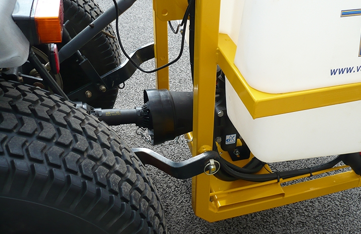 General view of tractor PTO for use with liquid de-icing sprayers