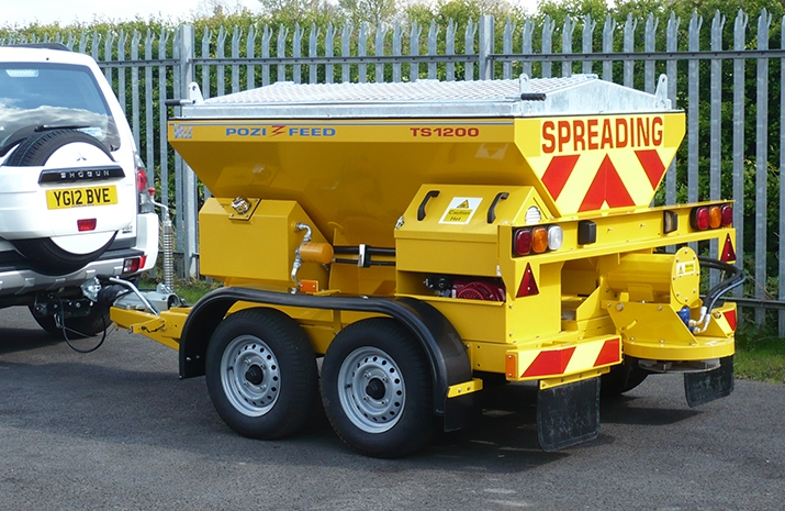 VALE Engineering's TS1200 salt spreader has achieved EC Whole Vehicle Type Approval (ECWVTA) and is generally considered to be the market-leading high speed towed or trailed salt spreader