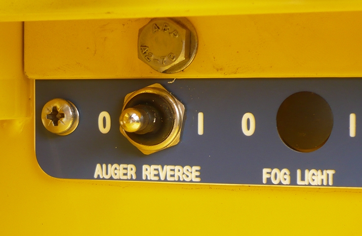Auger reverse switch on the VALE TS1700 Tractor Towed Salt Spreader (Gritter) from VALE Engineering