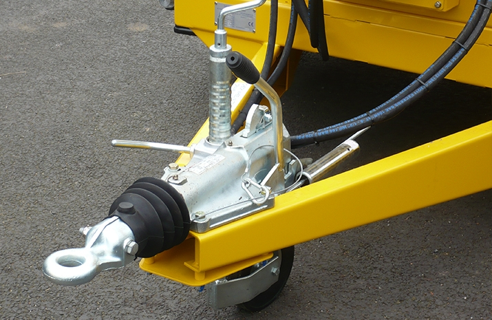 Jockey wheel on the VALE TS1700 Tractor Towed Salt Spreader (Gritter) from VALE Engineering - detail