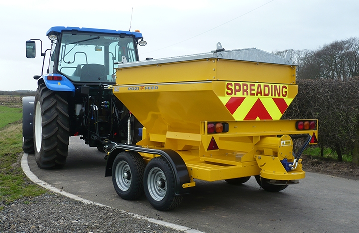The robust VALE TS1700 Tractor Towed Salt Spreader (Gritter) from VALE Engineering
