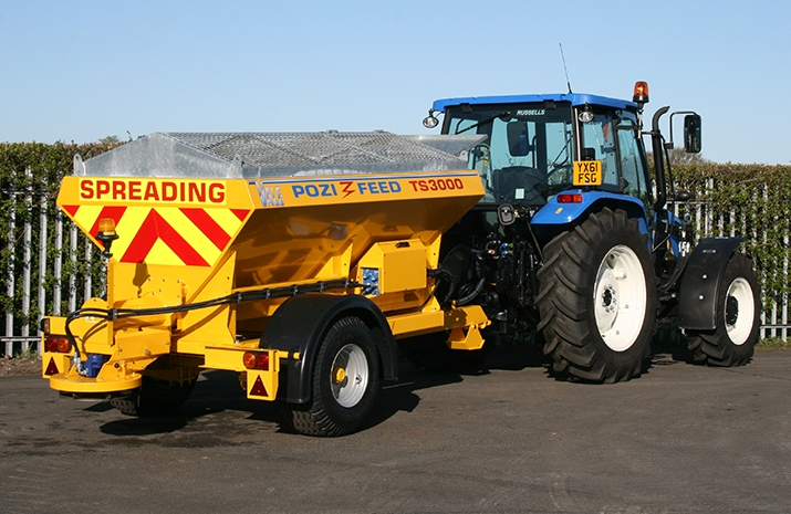 VALE Engineering's VALE TS3000 Tractor Towed Salt Spreader (Gritter) has a 3.0m³ hopper capacity