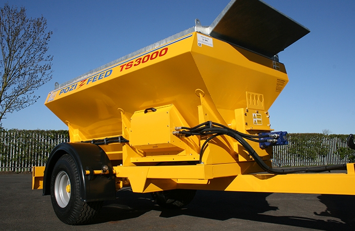 VALE Engineering's VALE TS3000 Tractor Towed Salt Spreader (Gritter) is designed for winter maintenance