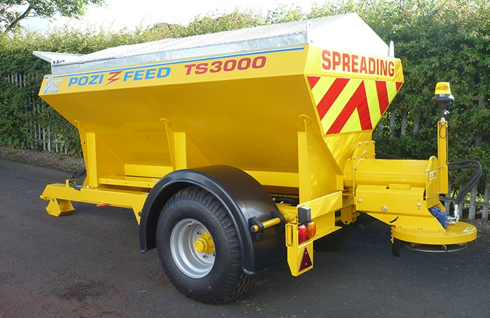 VALE Engineering's VALE TS3000 Tractor Towed Salt Spreader (Gritter)