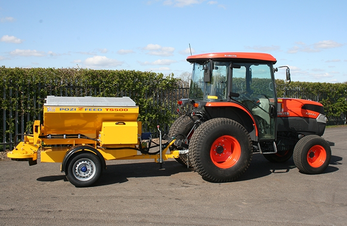 The VALE TS500 Tractor Towed Salt Spreader (Gritter) is the entry level salt spreader design from VALE Engineering