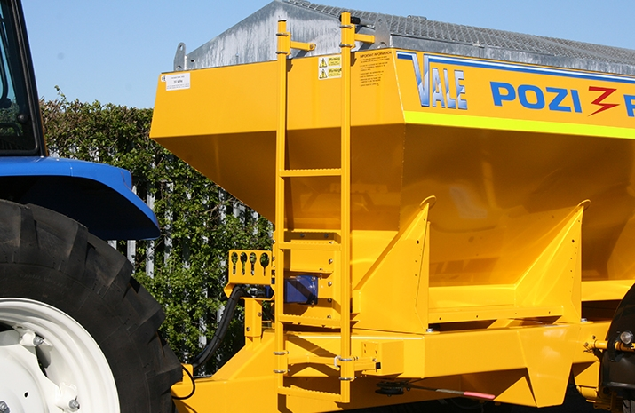Front mounted ladder on the Tractor Towed Salt Spreader (Gritter) VALE TS5000 from VALE Engineering