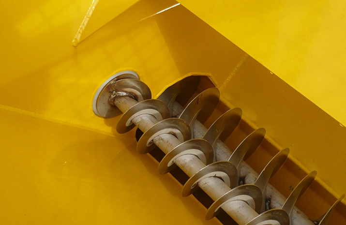 VALE Engineering's POZI-FEED augers run in maintenance free nylon bushes