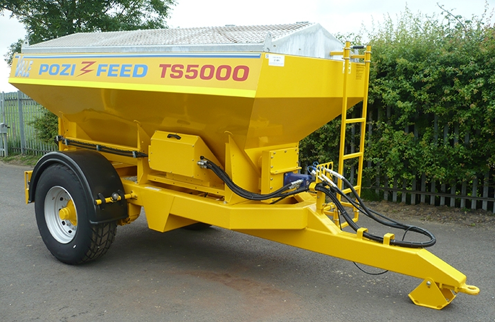 The Tractor Towed Salt Spreader (Gritter) VALE TS5000 is one of VALE Engineering's largest tractor-towed gritters