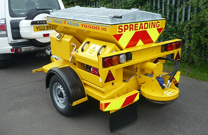 VALE Engineering's TS500HS salt spreader (gritter) has 0.5m³ Mild Steel Hopper