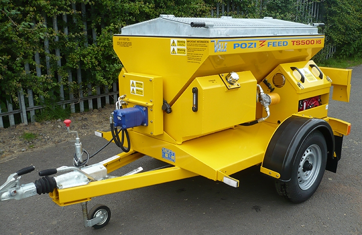 VALE Engineering's TS500HS salt spreader (gritter) - robust and reliable.