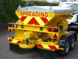 The TS1200 tow-behind salt spreader launched in 2006.