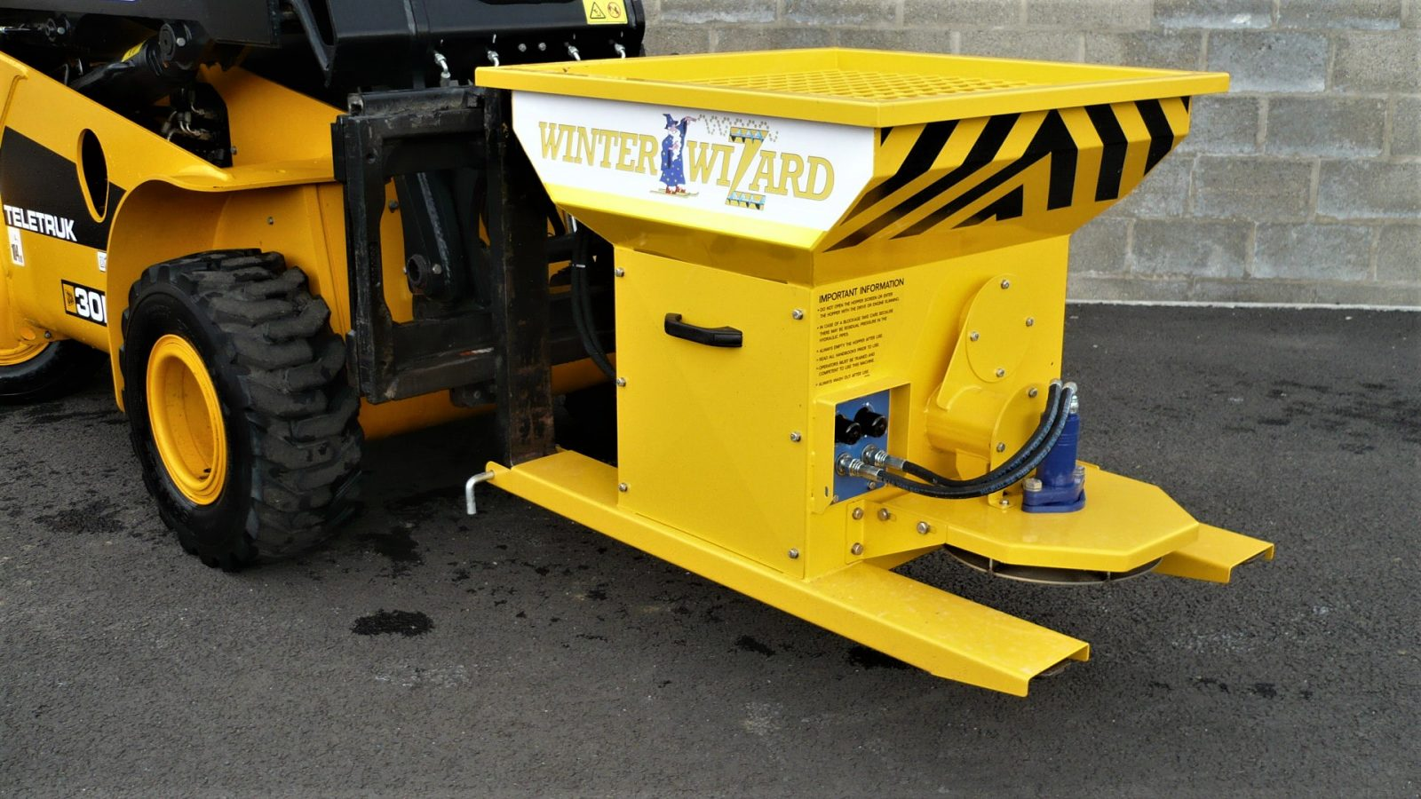 The Winter Wizard salt spreader for distribution centre and factory use