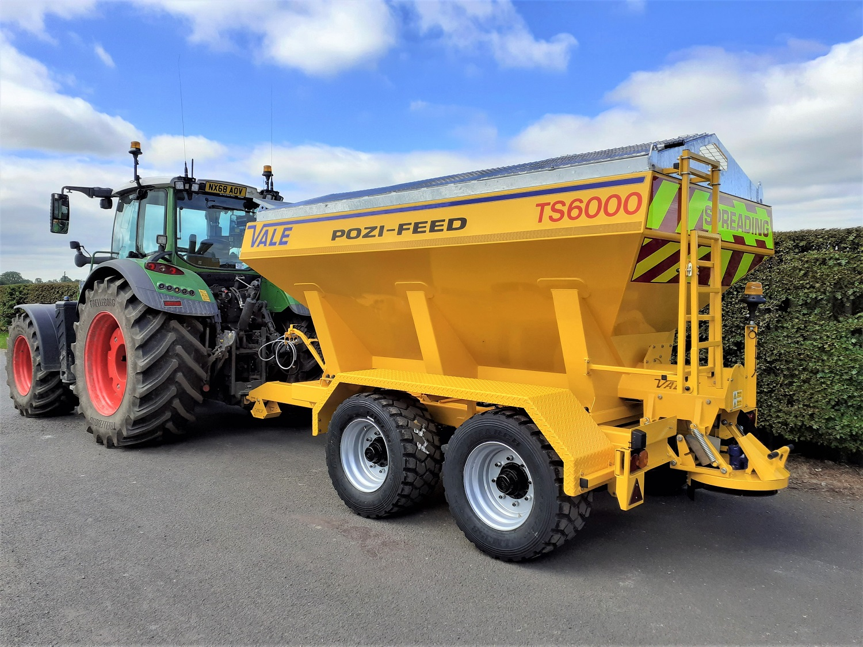 Tractor Towed Salt Spreader (Gritter) VALE TS6000 - VALE Engineering's largest tractor-towed salt spreader