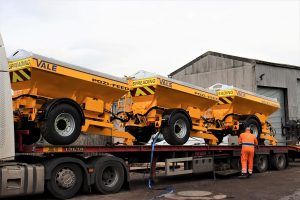 Salt spreaders and road gritters for sale or hire
