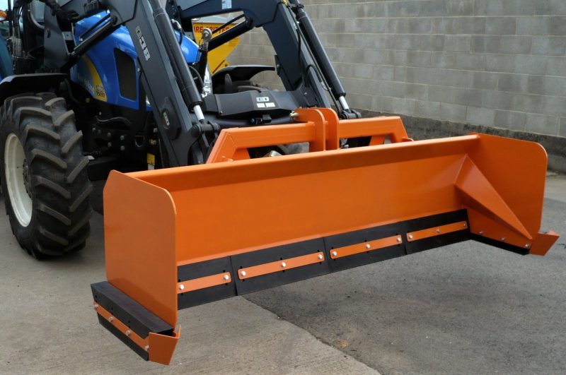 Snow Box - adaptable, low-cost snow clearing attachment for agricultural tractors