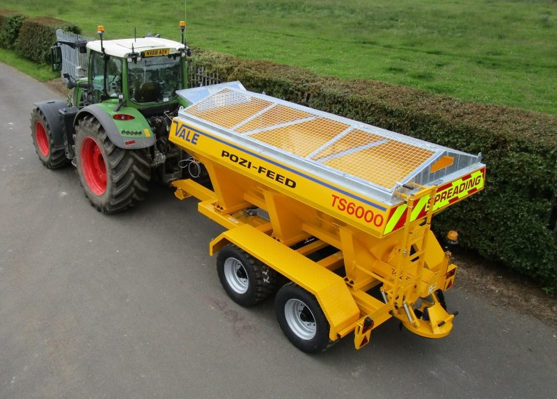 Tractor Towed Salt Spreader (Gritter) VALE TS6000 - Galvanized pitched mesh, complete with access hatch