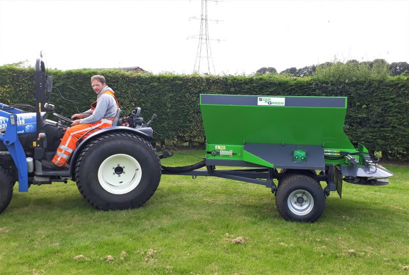 STARGREEN TD1500T Trailed Turf Care Top Dresser is ideal for sports grounds